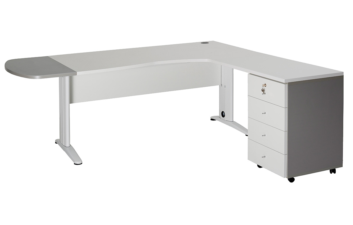 Bureau ext l ret integre a 4 tiroirs interieurs for Bureau 4 tiroirs