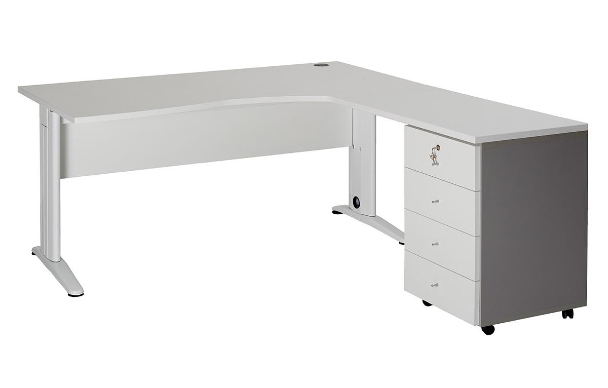 Bureaux archives interieurs for Bureau 4 tiroirs