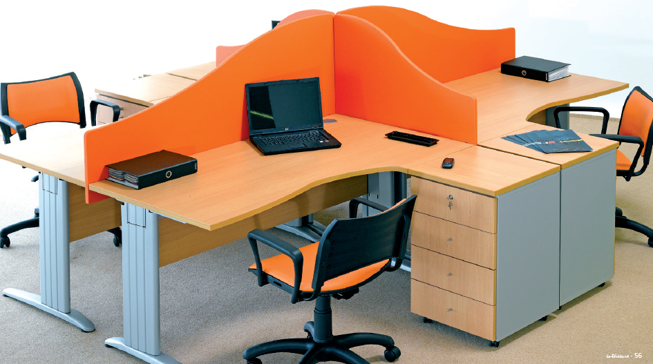 Beta 4 postes interieurs for Bureau 4 places